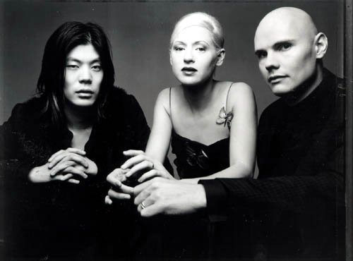 James Iha, d'Arcy Wretzky and Billy Corgan: publicity photo for the Adore album