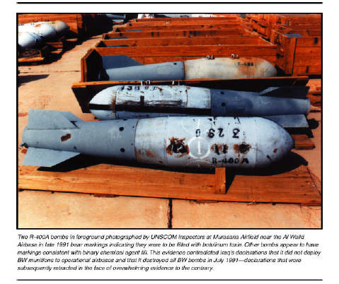 illustration from October 2002 NIE: note how old the bombs were even back in 1991!