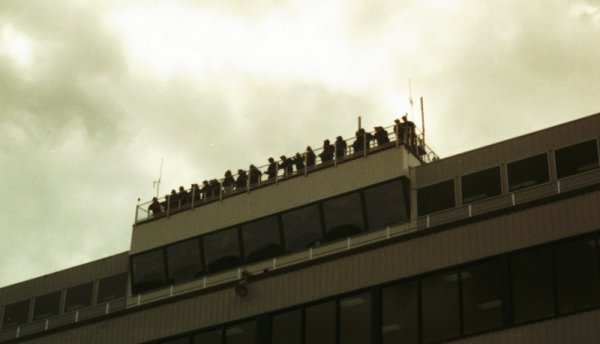 spotters on top of NHIS               grandstand
