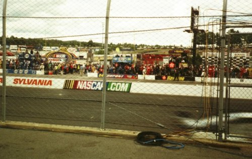close up view of NHIS track and catchfence during               Sylvania 300